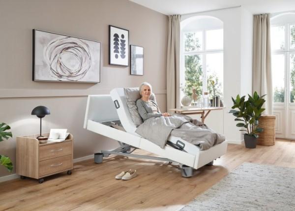 Pflegebett Burmeier Regia Easy-Switch mit Kunstlederpolsterung