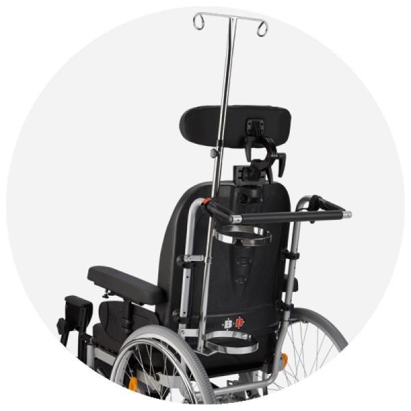 Bischoff & Bischoff Infusions-Oxygenflaschenhalter für Rollstühle