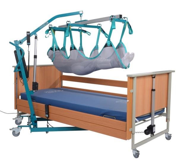 aks Liegendtrasportgurt für Transportbügel mit 8-Punktaufnahme zum Baden für Patientenlifter