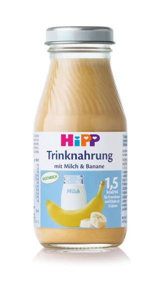 Hipp Trinknahrung Milch/Banane vollbilanziert 6 x 200 ml