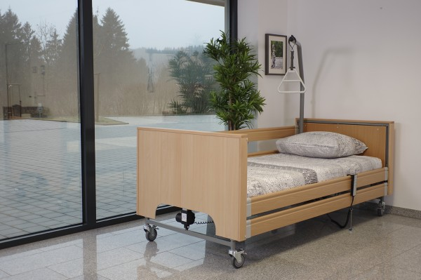 TekVor Care Pflegebett ECOFIT S PLUS mit Holzverkleidung