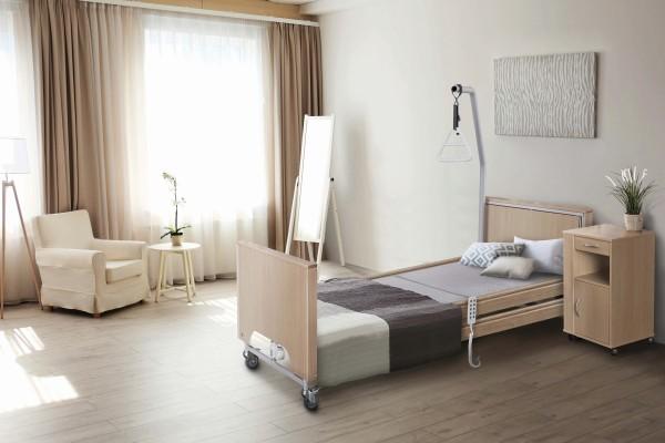 TekVor Care Pflegebett ECOFIT S PLUS Low mit Holzverkleidung