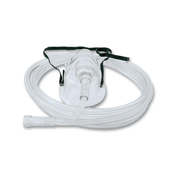 Sauerstoffmaske Atemmaske für Erwachsene mit Nasenclip und 2,10 m Sicherheitsschlauch